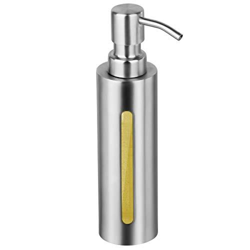 GLUBEE ハンドソープ 詰め替え ディスペンサー 304 ステンレス おしゃれ ディスペンサー シャンプー ボトル 食器用洗剤 バスルーム キッチン 洗面所などに適用 200ML