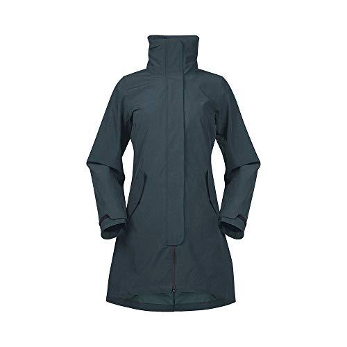 Bergans Oslo 3in1 W Coat Grün, Damen Regenmantel, Größe L - Farbe Forest Frost - Solid Charcoal