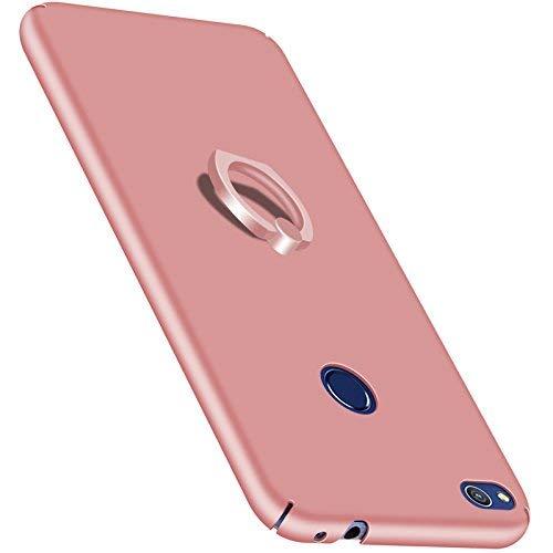 Funda Firmness Smartphone Funda Carcasa Case Cover Caso con Anillo para Huawei P8 Lite(2017)/Huawei P9 Lite(2017)/Huawei Honor 8 Lite/Huawei Nova Lite/Huawei GR3(2017)(Oro Rosa)
