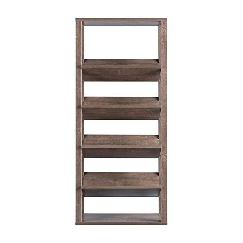 Furniture of America Rubus Wood 5-Shelf 71-Inch Etagere Bookcase in Walnut