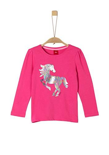 s.Oliver Mädchen 52.912.31.8807 Langarmshirt, Rosa (Pink 4464), 128 (Herstellergröße:...