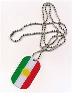 DOG TAG Kurdistan Erkennungsmarke Kette Grösse 30 x 50mm