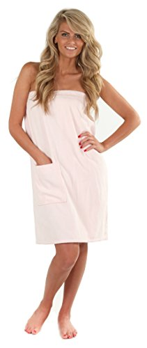 VEAMI Women's Spa Wrap Towel with Snap Closure