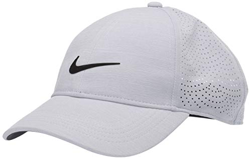 Nike Aerobill Heritage86 Damen-Hut, Damen, Mütze, Women's Nike Aerobill Heritage86 Performance Hat, Himmelgrau/Anthrazit/Schwarz, Einheitsgröße