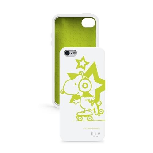 iLuv ICA7T381WHT, Custodia Snoopy che si Illumina al Buio per iPhone 5, Bianca