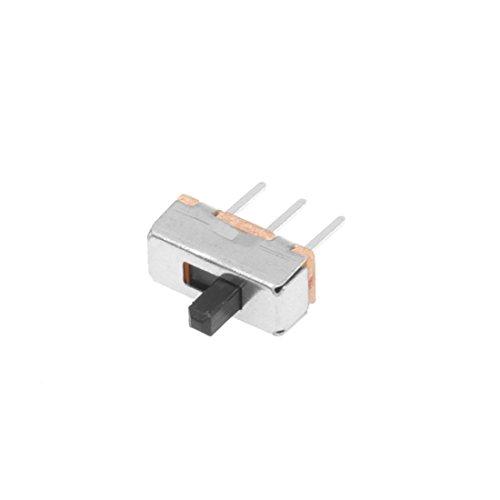 TOOGOO(R) 50pzs SS12D00G3 2 posiciones SPDT 1P2T 3 Pines Mini interruptor deslizante vertical del panel PCB