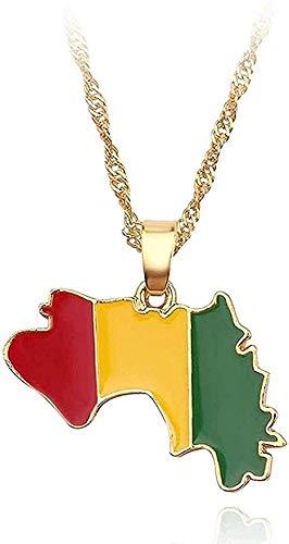 Yiffshunl Collar con Colgante de Bandera Nacional, Collar para Mujer, Jamaica, Nigeria, Ghana, Jamaica, Guyana, mapas, Collares, joyería del Condado, Regalos
