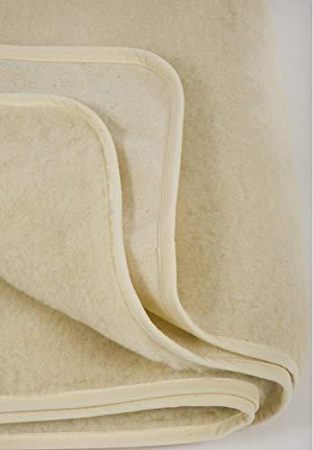 Merino Matratzenauflage aus Wolle Schafwolle Unterbett Matratzenschoner Matratzen-Schoner Matratzen-Auflage (180x200 cm)