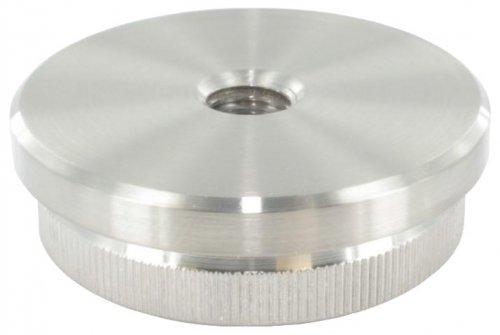 Endkappe flach mit M10 Innengewinde, massiv, für Rohr ø 42,4 x 2,0mm, zum Einschlagen