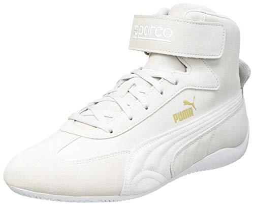 PUMA Speedcat Mid Sparco, Sneaker Unisex-Bambini, Grigio (Gray Violet White Team Gold), 35.5 EU