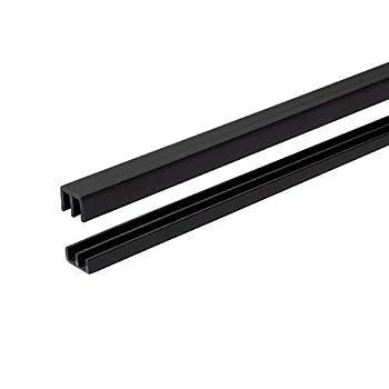 Randall Manufacturing 1/4  Plastic Sliding Door Track  Black 4 FT Long