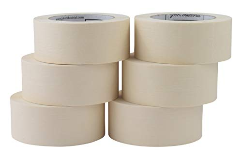 JAK Industrial 6 Rolls - 2 Inch Masking Tape for General Purpose/Painting - 60 Yards per roll