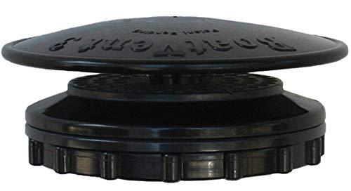 Vico Marine BV3 BLK LT - Rejilla de ventilación para barco (3), color negro