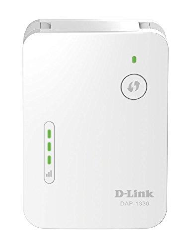D-Link DAP-1330 Range Extender Universale/Ripetitore Wi-Fi N300, 2 Antenne Esterne a Scomparsa, 1 Porta 10/100 Mbps Ethernet, Pulsante WPS, Semplice Configurazione, Bianco