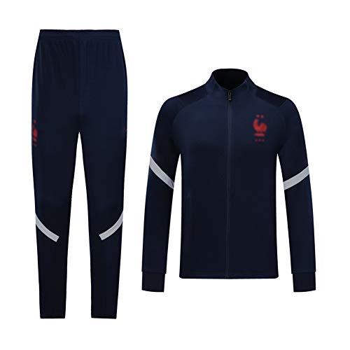 H.ZHOU Fußball-Trainingsanzug Verein Adult-Jugend-Sweatshirt Langarm-Jogging BreathableTop und Hosen Anzug QL0022 65261 (Size : XL)