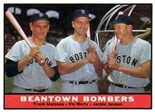 1961 Topps Regular (Baseball) card#173 Jenson/Malzone/Wertz of the Boston Red Sox Grade Very Good