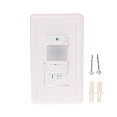 Sensor de movimiento luz lámpara interruptor, yeahii Auto On/Off infrarrojos Ocupación vacante Sensor de movimiento lámpara de luz interruptor), color blanco