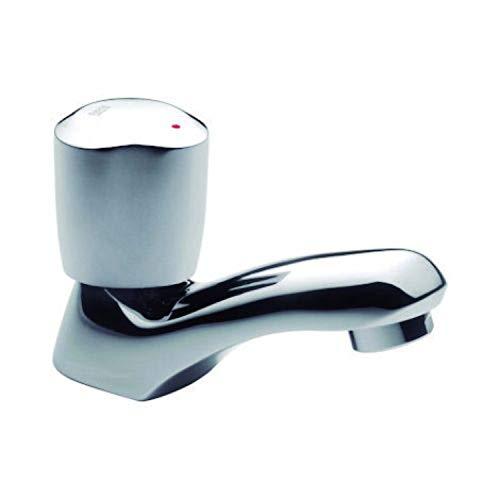 Grifo de lavabo Brava de repisa, 14,8 x 20 x 14,8 centímetros, color aluminio (Referencia: A5A7930C00)
