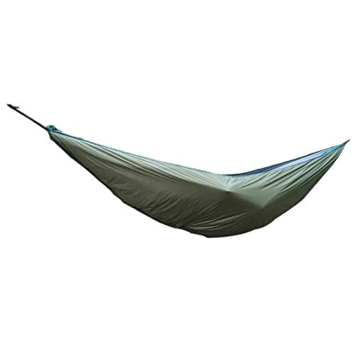 FYstar Exquisitely Designed Durable Outdoor Camping Warm Cover Windproof Cold Leisure Hammock Accessories Cotton Hammock(Army Green)