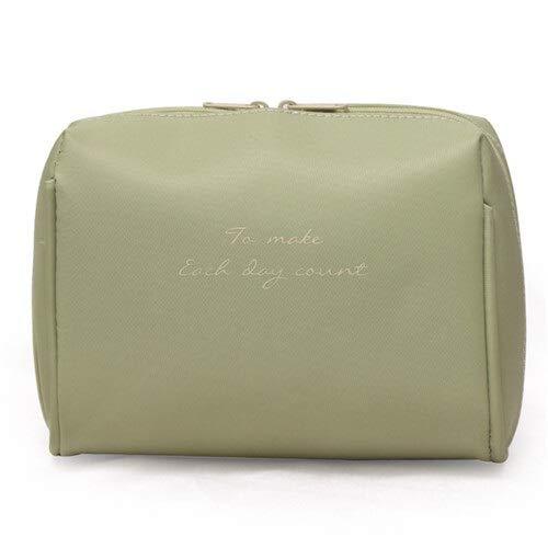 Ohne Markenzeichen Femmes Sac cosmétique Voyage Make Up Sacs Solides Mode Femmes Maquillage Sac Organisateur Kits Sac de Toilette (Color : Green)