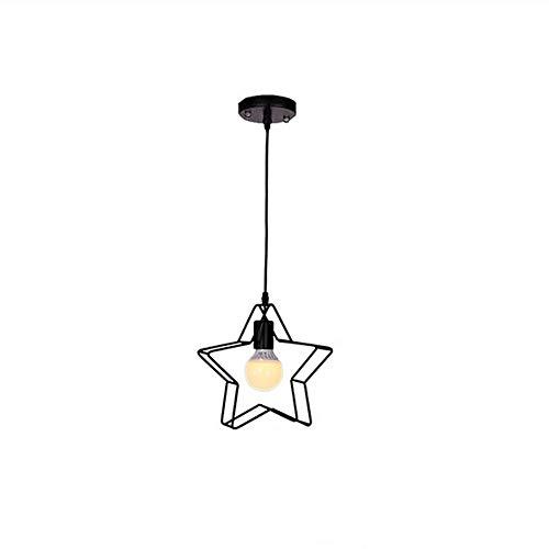 Decoración Hogareña Iluminación Colgante de cinco puntas moderna minimalista Pentágono estrella de la personalidad creativa pendiente de la lámpara, dormitorio Comedor de la tabla cajero niños estrell