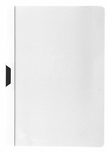 Idena 300576 - Klemmmappe für DIN A4, weiß, 5 Stück
