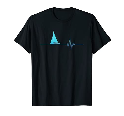 Marinero Latido de Corazón Velero Barco de Mar Amor Camiseta
