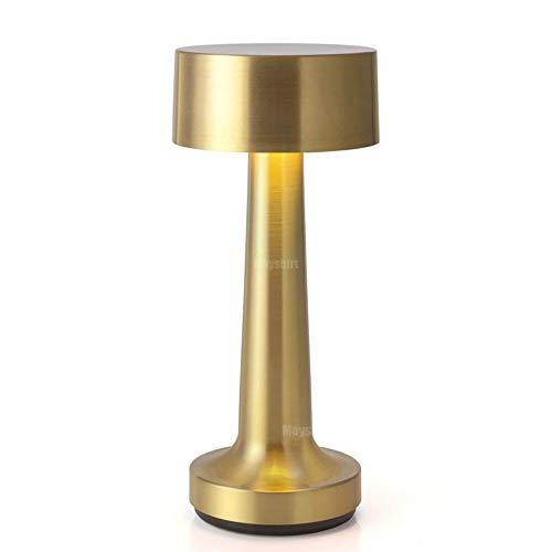 Lámparas de mesa de bar inalámbricas de latón Lámpara de escritorio a batería moderna Dormitorio Lámparas de noche LED Lámparas para restaurante en casa