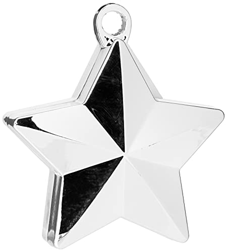amscan Shinny Silver Star Balloon Weights Party Decoration-1 Pc