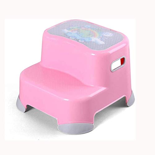 GDBSS Doble Altura 2 taburete de paso for los niños, las heces del niño por un entrenamiento insignificante del bebé y Ejercicio 2-Paso antideslizante de diseño y seguridad, for lavarse los dientes La