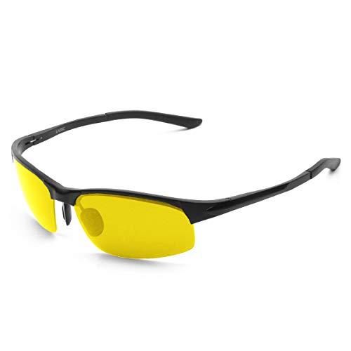 LATEC Polarisierte Sonnenbrille Fahren, Fahrbrille für Männer Sportbrillen Angeln Golf Brille mit Metallrahmen & UV400 Schutz