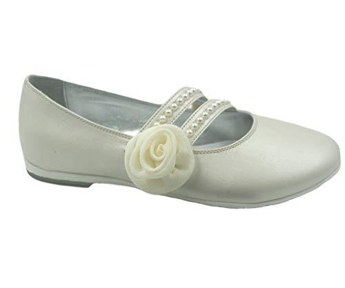 Asso Ballerine AG 517 Chaussures pour fille - Ecru - ivoire (ral 1013), 24 EU EU