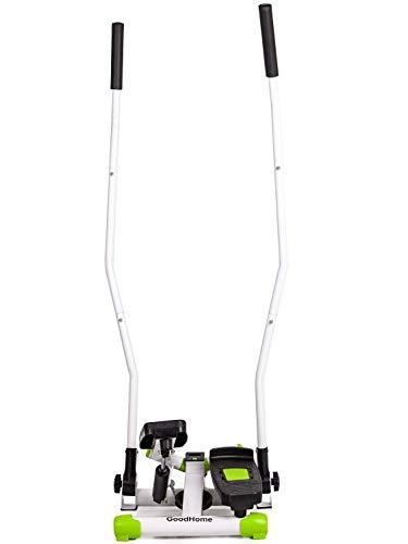 Goodhome Fitness Stepper GB-5085A - Stepper con asas y cuerdas (pantalla LCD)