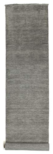 CarpetVista Alfombra Handloom Fringes - Gris Oscuro 80x500 Alfombra Moderna, Pasillo
