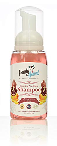 Handy Hound Pomegranate Mango Foaming No Rinse Shampoo for Dogs or Cats |...