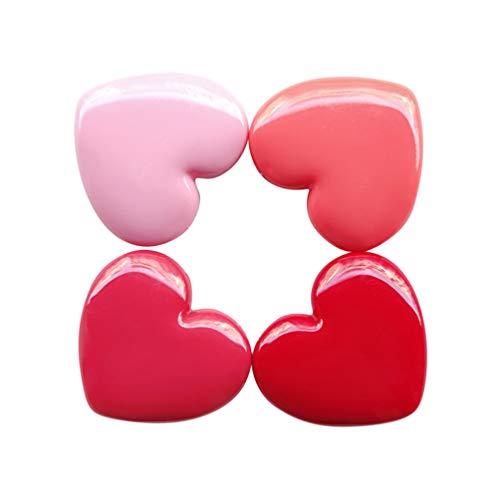 Lurrose Lot de 4 mini palettes de fards à paupières en forme de cœur avec miroir