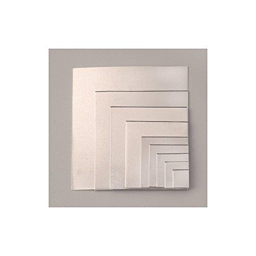 Lot de 12 Supports en Aluminium pour Efcolor, Carré, 20 × 20 mm