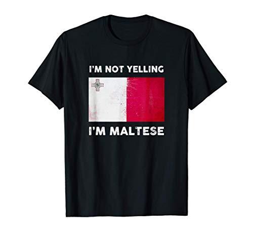 Ich schreie nicht, ich bin Malteser Trikot | Malta Flagge T-Shirt