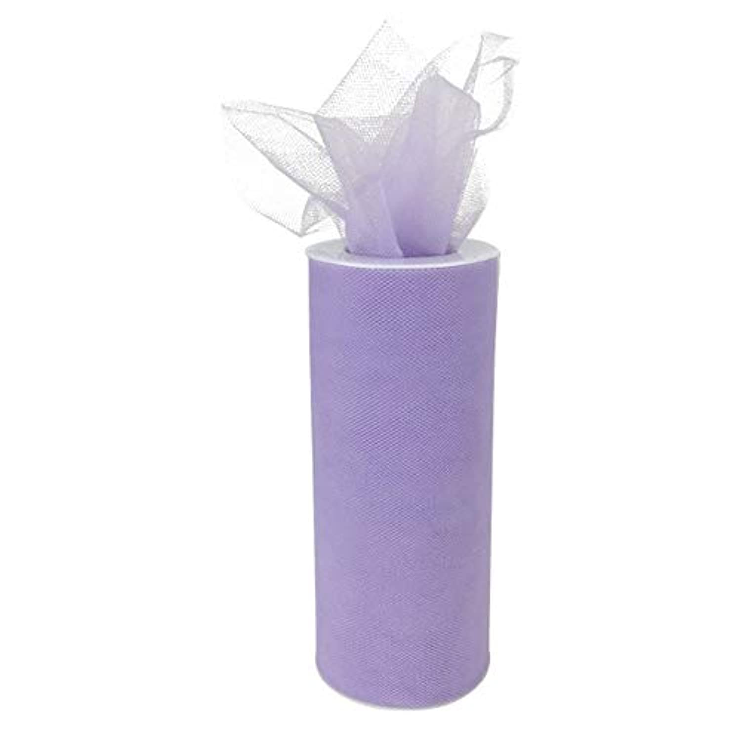 Just Artifacts - Tulle Fabric Roll - 6in width/25yrd Length - Lavender
