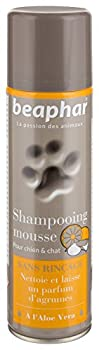 BEAPHAR – Shampoing mousse sans rinçage à l'Aloe Vera pour chien et chat – Nettoie, nourrit, protège et parfume le poil aux agrumes – Pratique et facile à utiliser – Flacon 250 ml