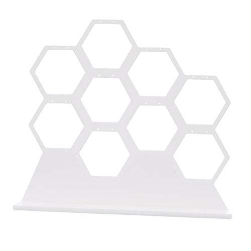 Milageto Soporte para pendientes, organizador para joyas, expositor para pendientes de nido de abeja, se puede colocar en la mesita de noche y en el armario.