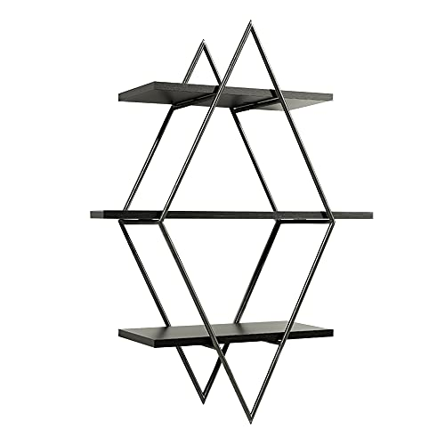 Floating Wall Shelf, Three-Layer Design Hanging Shelf, Suitable for Displaying Potted Plants, Family Photos, and Collectibles/C / 80x60x20cm