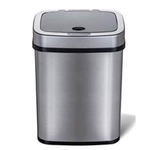 Yxsd Papelera de acero inoxidable inteligente de inducción para basura (color plateado espacial)