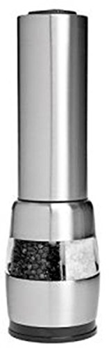Stainless Steel Combination Deluxe Electric Salt and Pepper Mill