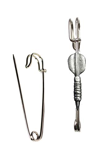 FT348 Single Dart 1.5x4.4cm Scarf , Brooch and Kilt Pin Pewter 3' 7.5 cm POSTED BY US GIFTS FOR ALL 2016 FROM DERBYSHIRE UK