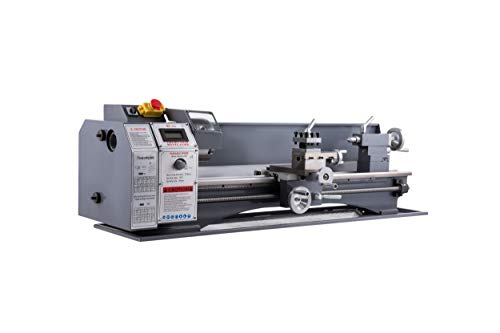 CO-Z 1100W Mini Benchtop Metal Lathe with Metal Gears, 8.7' x 29.5' 1.5HP 50-2250RPM Variable Speed Wood & Metal Working Tool