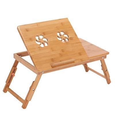 Table HDS Bambus Laptop-Tisch Adjustable Computer-Schreibtisch for Sofa-Bett klappbaren tragbaren Laptop-Tisches mit Lüfter Notebook Stand Tabelle (Color : HH346600PC)
