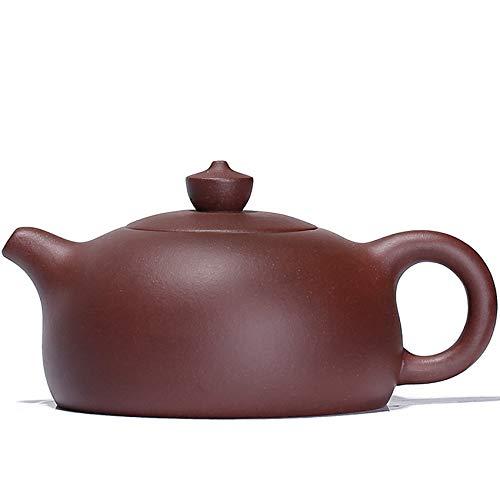 Mozentea YT1 Chinesische Yixing-Teekanne, handgefertigt, Violett, Ton/Zisha/Schlamm/Wasser/Tee/Sand violett