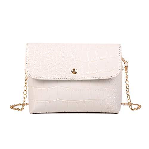 Luckycat bolso de mujer elegante bolso de hombro correa de cadena metálica bolso de cuero de la PU bolsos cruzados bolsa de embragues Bolsos de mano Mujer