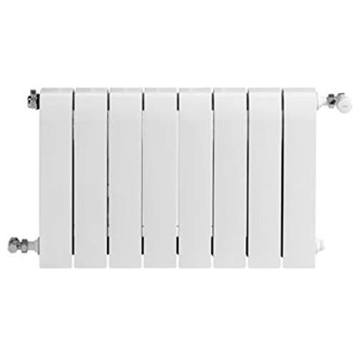 Baxi Radiador de aluminio de alta emisión térmica Batería, 8 elementos, serie Dubal 60, 8,2 x 64 x 57,1 centímetros (Referencia: 194A25801), blanco